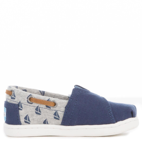 Toms for Toddlers: Navy Canvas/Sailboats Bimini