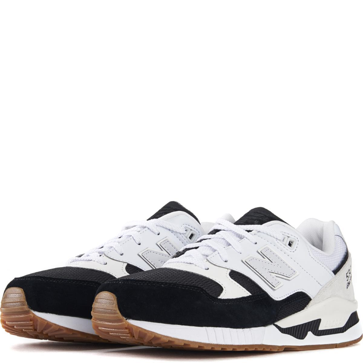 New Balance for Men: 530 Summer Waves Black with White Running Shoes