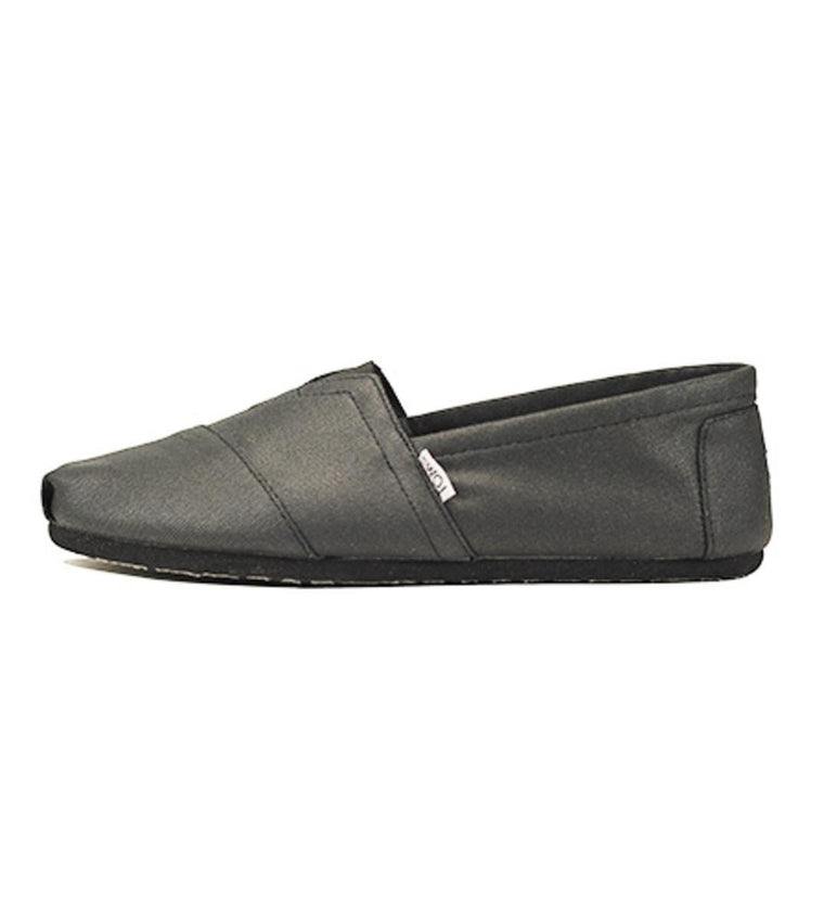 Toms for Men: Classic Black Coated Canvas