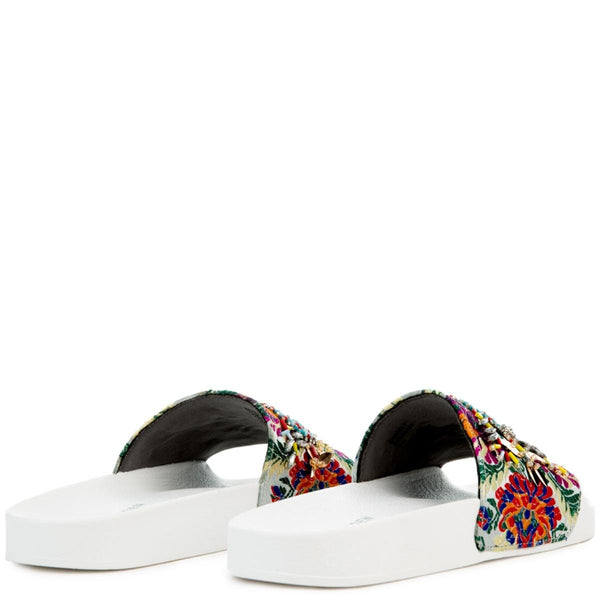 Women's Sparkly White Sandal