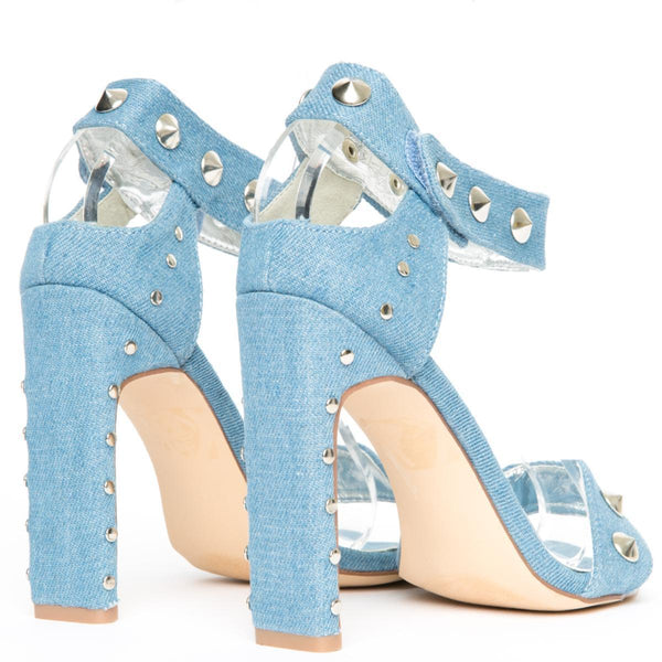 Cape Robbin Jen-17 Women's Denim High Heels