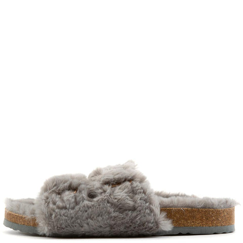 Defeat-63 Double Band Fur Slides