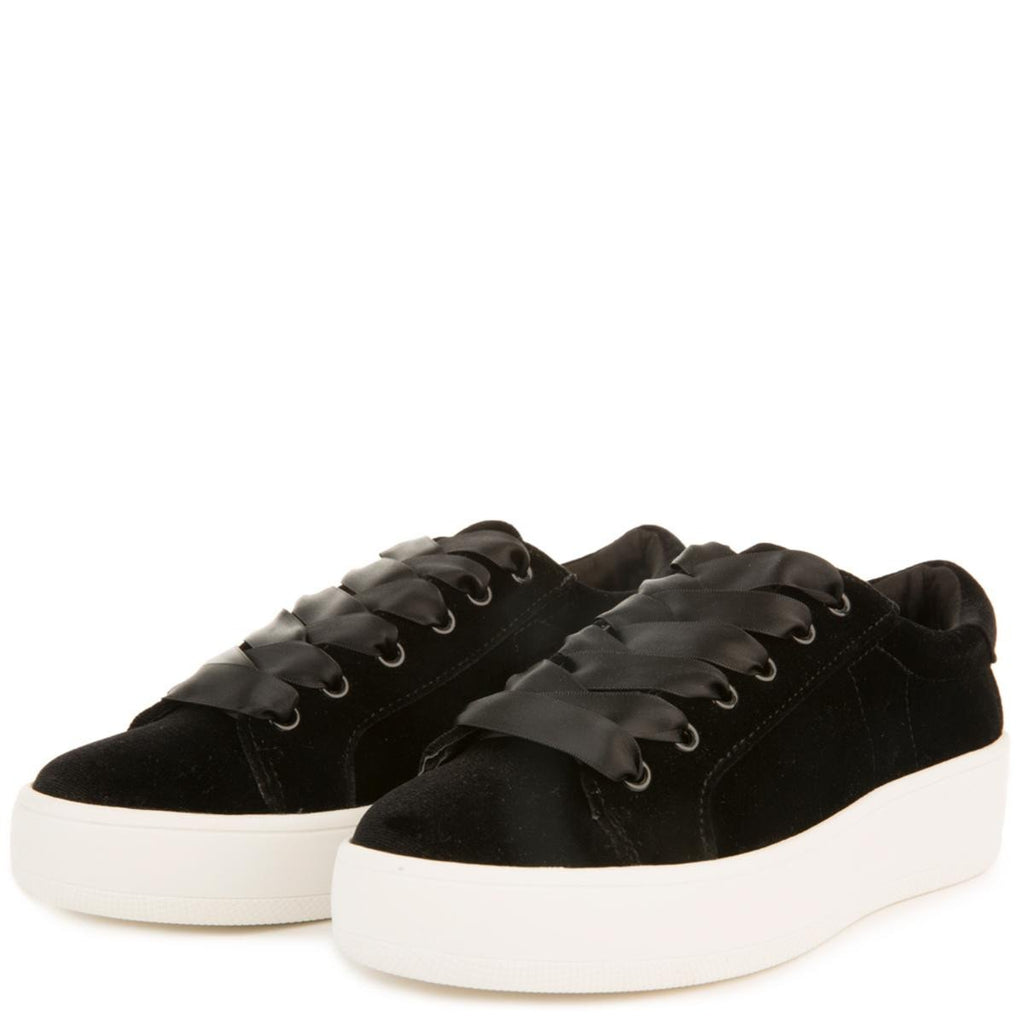 75884200351 Steve Madden for Women  Bertie-V Black Platform Sneakers