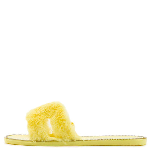 Jacelyn-19 Flat Fur Sandals