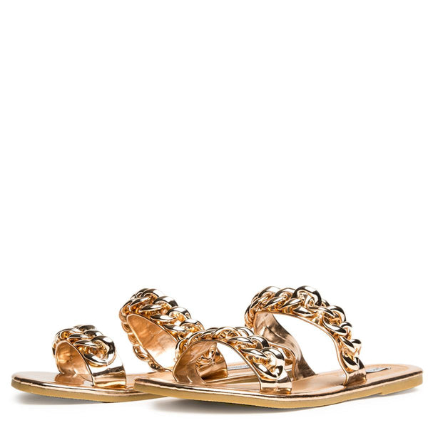 Cape Robbin Leela-8 Rose Gold Women's Sandal