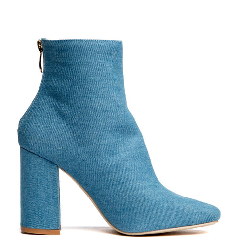 Cape Robbin Betisa-38 Denim Women's Booties