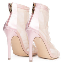 Cape Robbin Alza-61 Women's Blush Heeled Booties