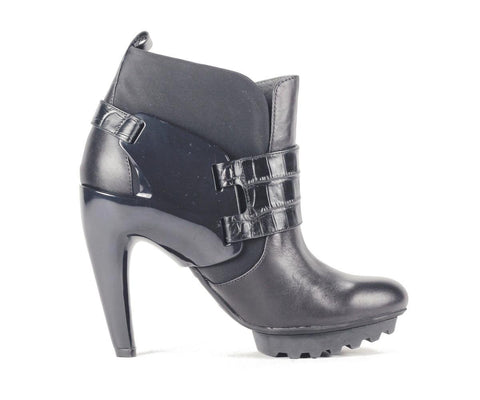 United Nude for Women: Winter Eros Black Nappa High Heels