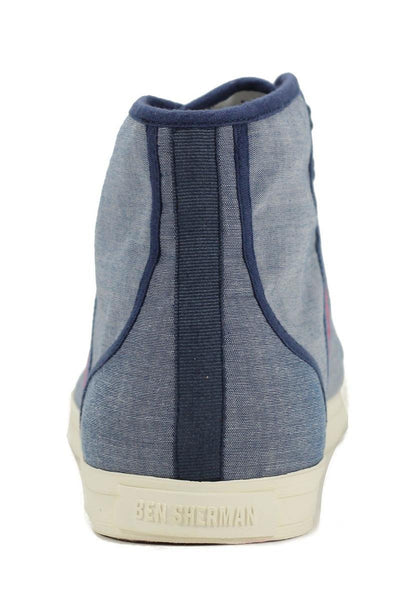 Ben Sherman for Men: Breckon Hi Blue Chambrey Sneaker