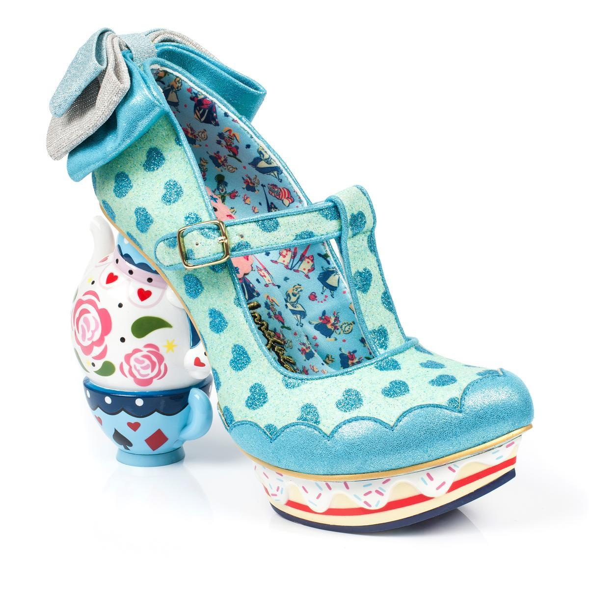 Irregular Choice Alice in Wonderland Collection: My Cup of Tea Blue Heels