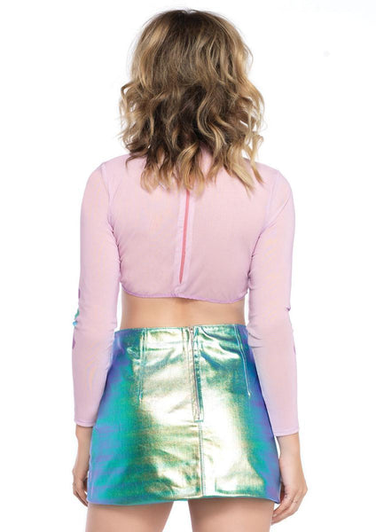 Women's Mermaid Crop Top