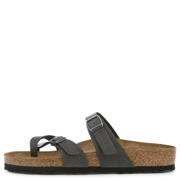 Birkenstock Mayari Birko-Flor Women's Pull Up Anthracite Sandals