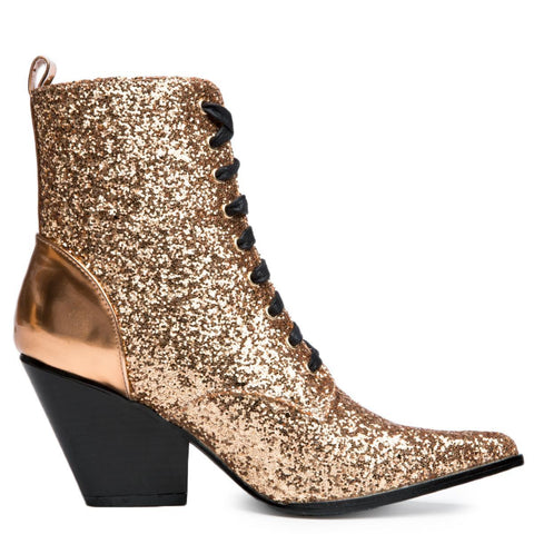 Cape Robbin Kelsey-18 Rose Gold Women's Bootie