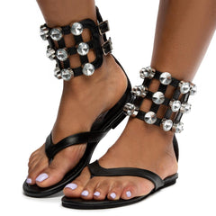 Cape Robbin OMH-12 Women's Black Sandal