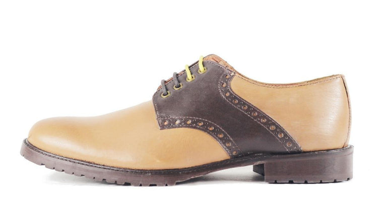 Ben Sherman for Men: Parsons Tan Brown Leather Oxford Oxford