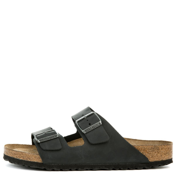 Footbed UnisexArizona Oiled Soft Black Sandals Birkenstock Leather thBsoQdCrx