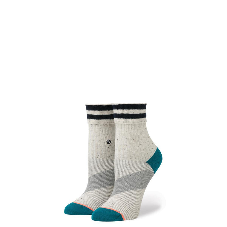 Stance for Women: Stripe Ankle Oatmeal