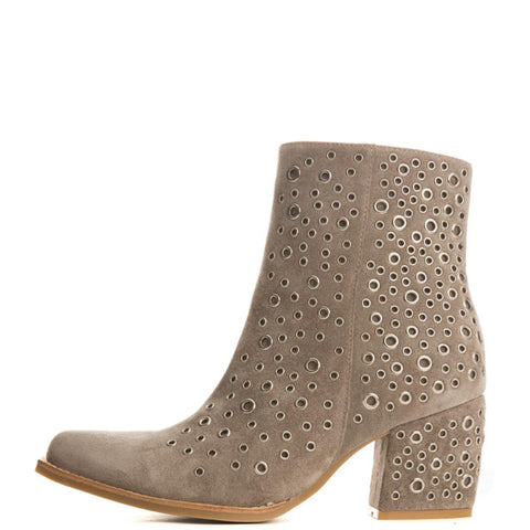 Jeffrey Campbell for Women: Bravado-Ey Taupe Heel Booties