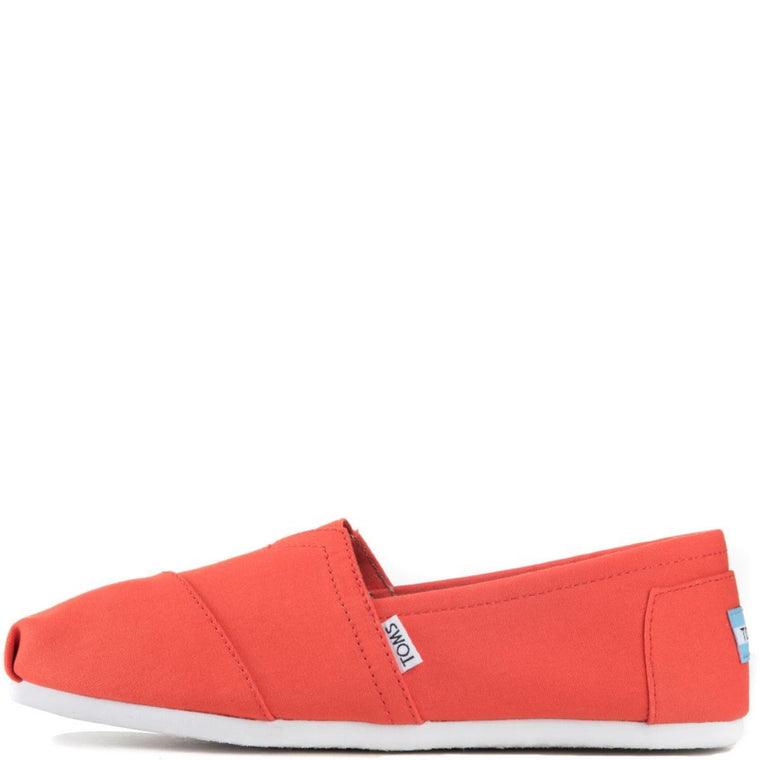 Toms for Men: Classic Bright Orange Canvas Flats