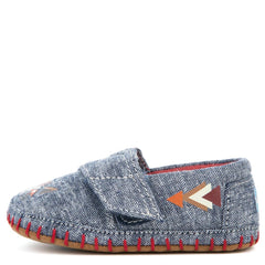 Tiny Toms Crib Alpargata Navy Chambray Fox Flat