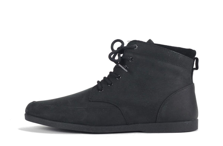 Clae for Men: Hamilton Black Nubuck Sneaker