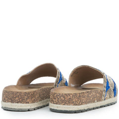 Women's Regain-03 Blue Slip On Sandal