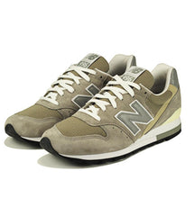 New Balance for Men: Classics 996 Grey & White Sneakers