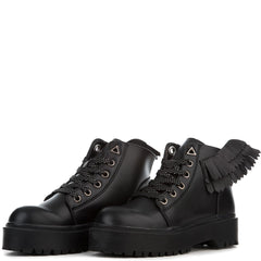 YRU Wings Slayr Angyl Women's Black Boots