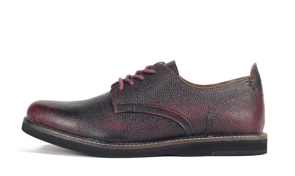 JD Fisk for Men: Jonas Burgundy Oxford Shoe Oxford