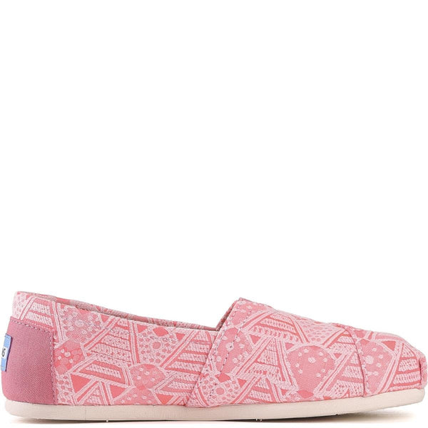 Toms for Women: Classic Pink Neon Tribal Flats