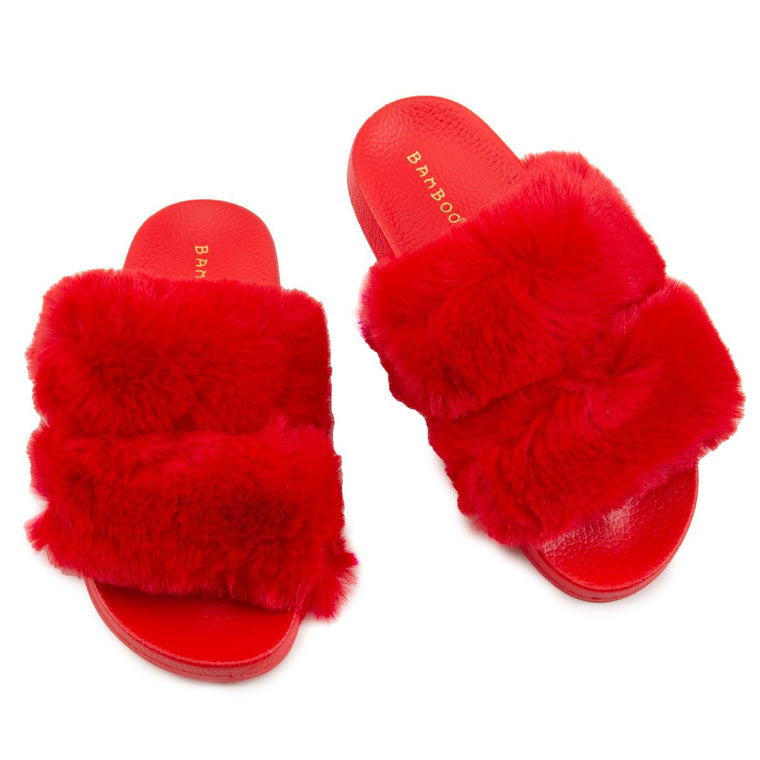Liv-05 Two Band Fur Slides