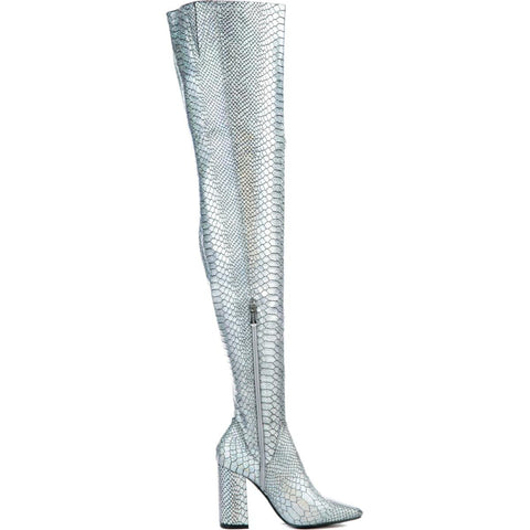 Cape Robbin Betisa-49 Women's Silver Boot