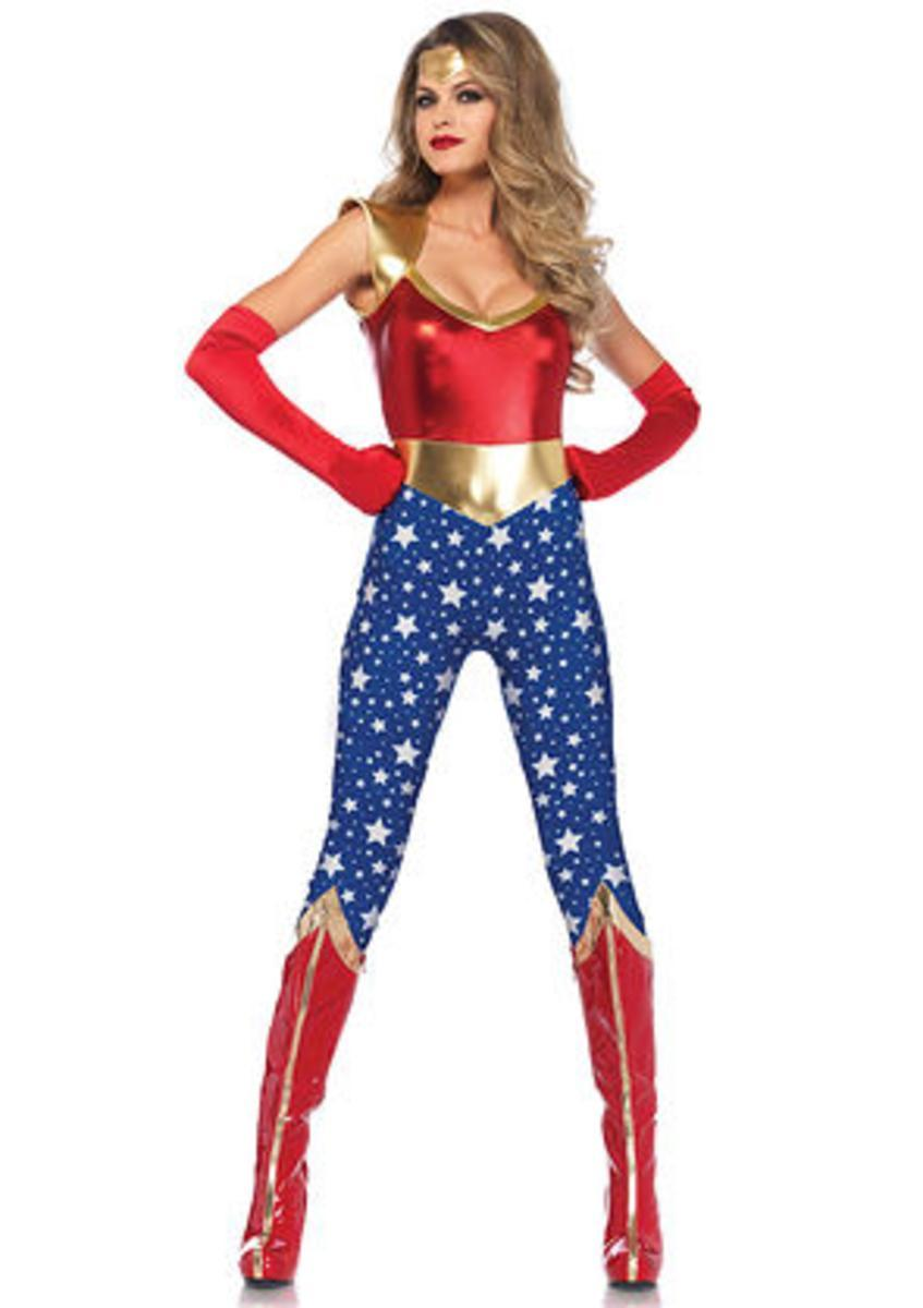 2PC.Sensational Super Hero,catsuit and head piece in MULTICOLOR