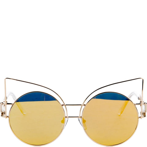 Esqape Sunglasses: Feline Gold