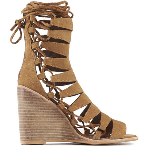 Jeffrey Campbell for Women: Zaferia-Hi Camel Suede Wedges