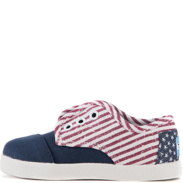 Tiny Toms: Paseo Americana Canvas Flag Sneakers