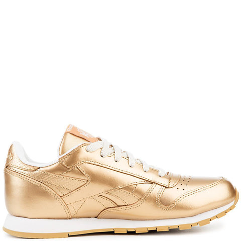 Juniors Classic Leather Metallic Sneaker
