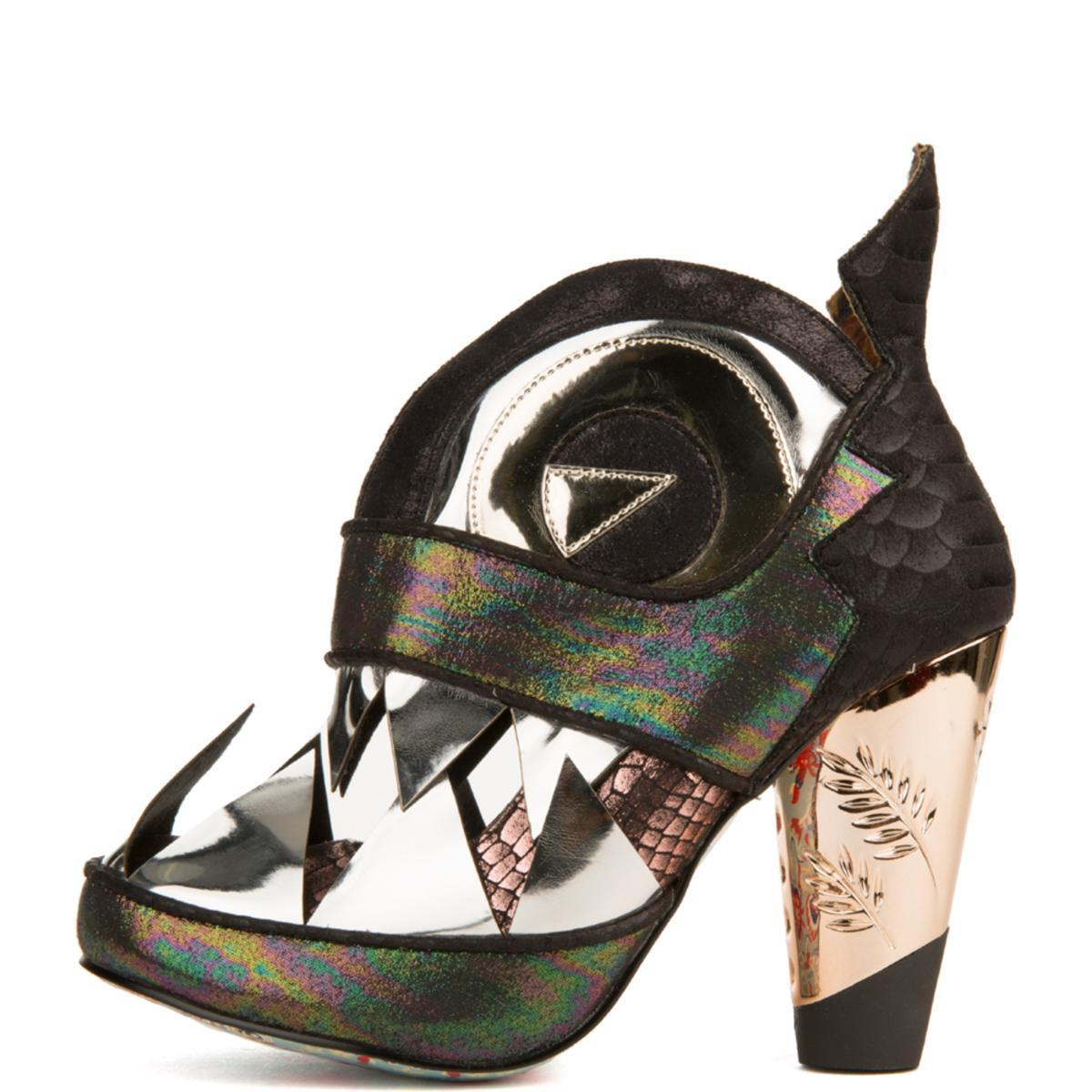 Irregular Choice for Women: I Don't Bite Pewter Heeled Booties