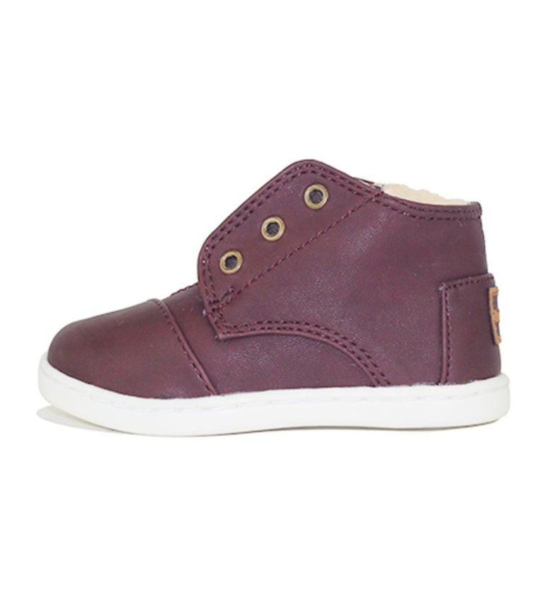 Tiny Toms: Paseo Mid Brown Synthetic Leather