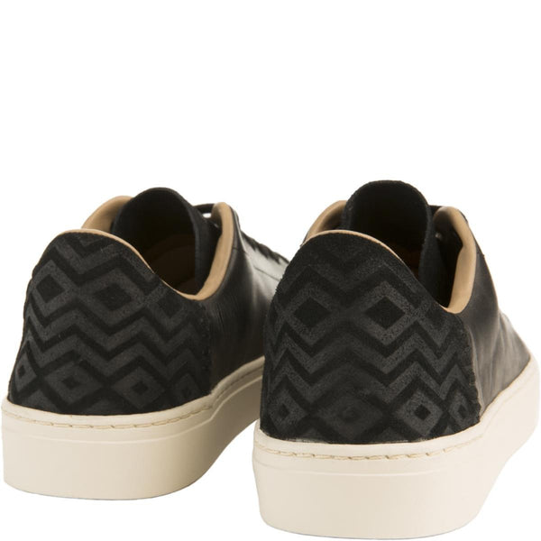 Toms for Men: Lenox Black Leather Sneakers