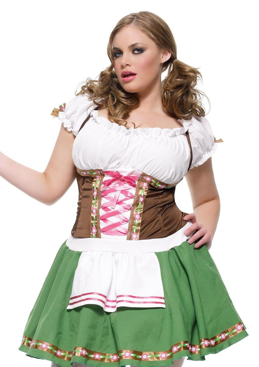 Gretchen costumes,includes dress in BROWN/GREEN