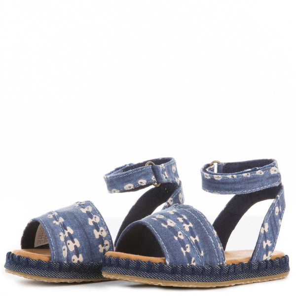 Toms for Toddlers: Navy Batik Stripe Malea Sandal