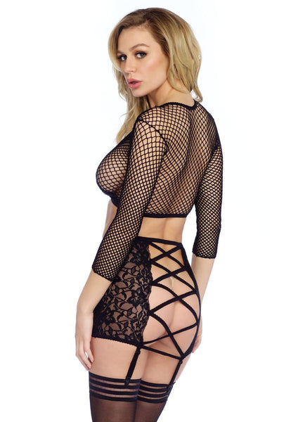 Women's 3PC.Industrial Net and Lace