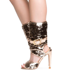 Cape Robbin Suzzy-75 Women's Rose Gold High Heel