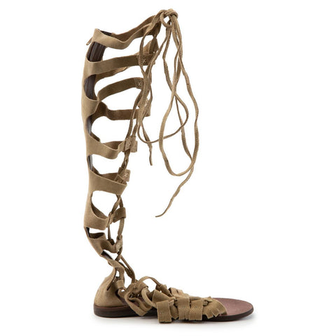 Free People: Cypress Tall Tan Sandal