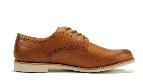 JD Fisk for Men: Sid Tan Plain Toe Oxford Oxford