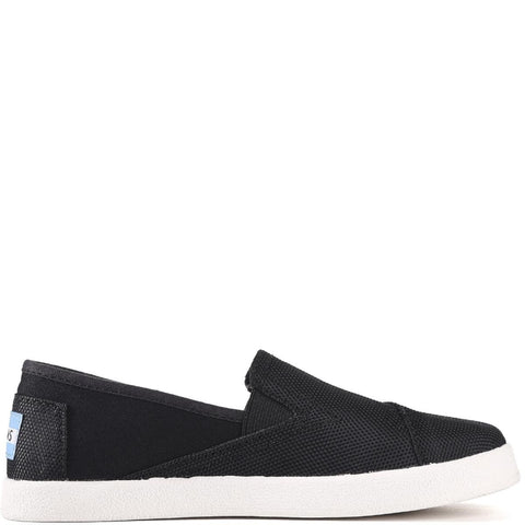 Toms for Kids: Avalon Black Canvas/Mesh Slip-Ons