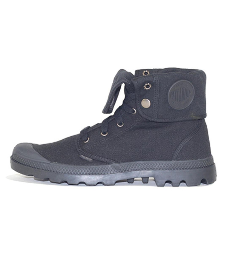 Palladium for Men: Baggy Black Canvas Boots