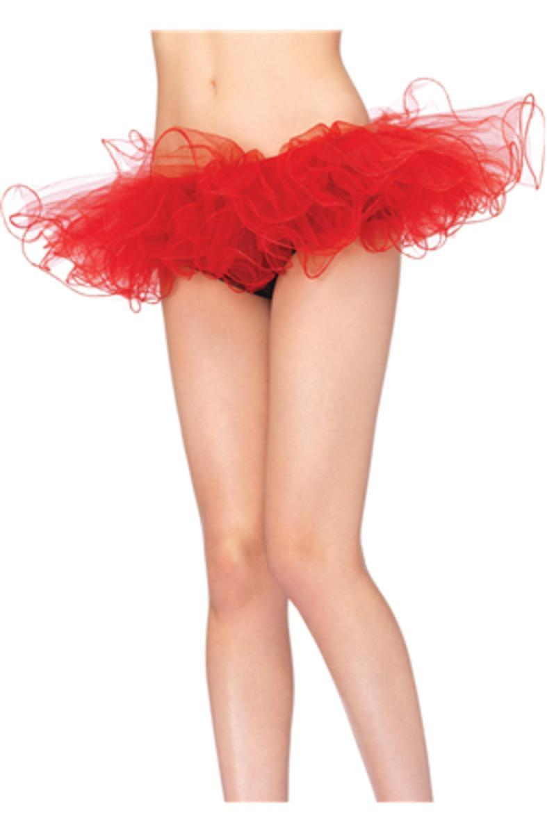 Tulle tutu with swirl edge finish in RED