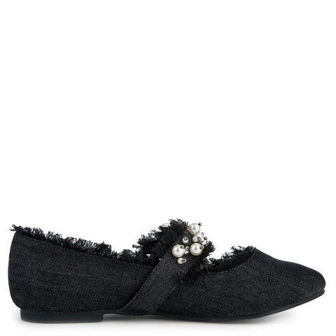 Cape Robbin Penny-1 Women's Black Flats